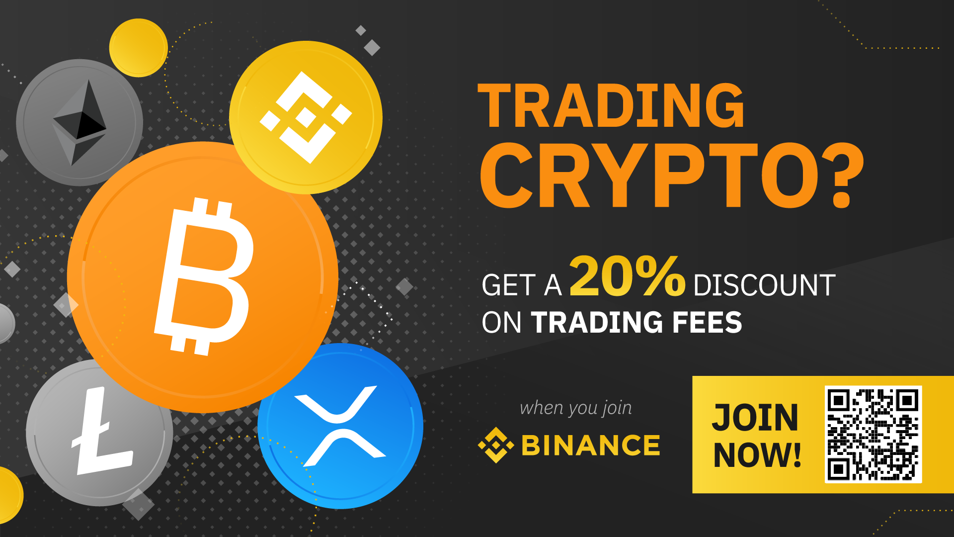 Discount banner for Binance.com