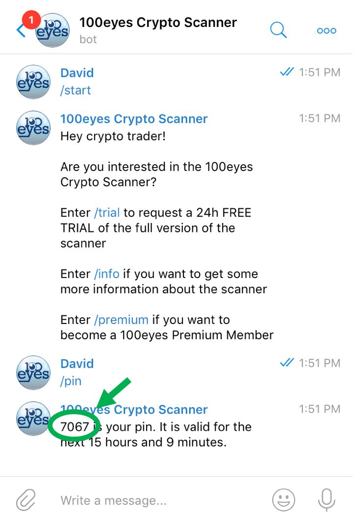 100eyes Crypto Scanner